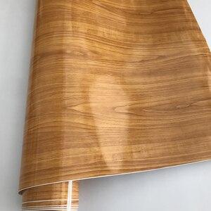 Image 3 - 50x200/300cm Glossy PVC Furniture Wood Grain Car Wrap Car Film Internal Stickers Waterproof Wood Vinyl Sticker