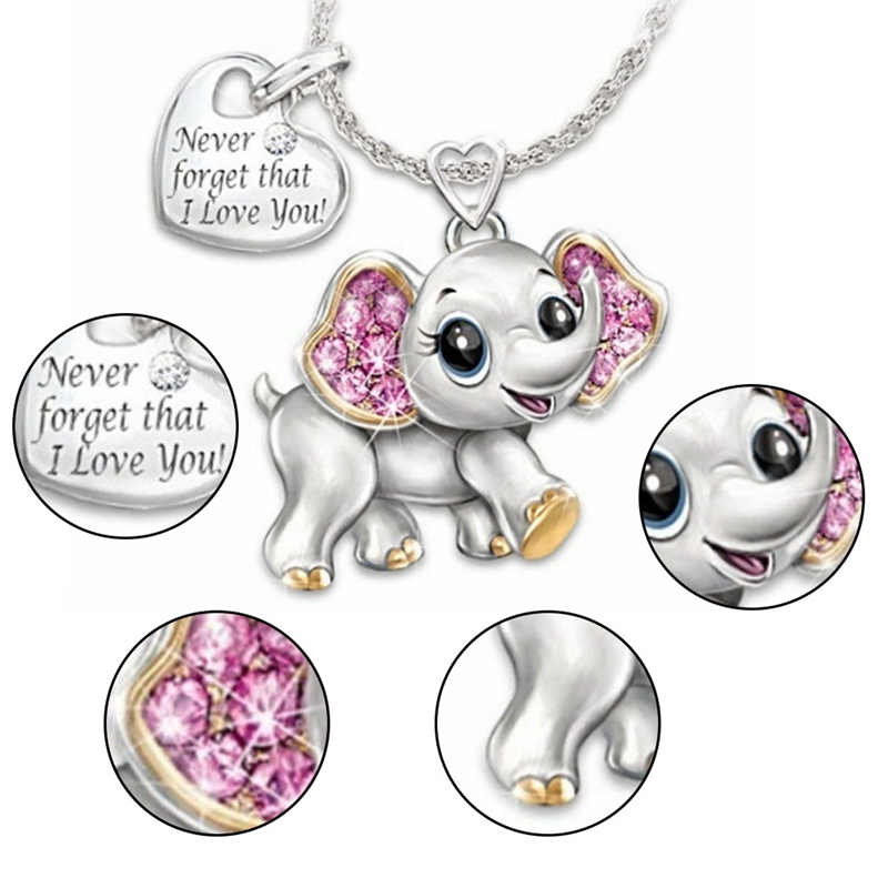 New-arrival-Cute-Elephant-Never-forget-that-I-love-you-Fashion-Style-Women-Necklace-Elegant-Anniversary
