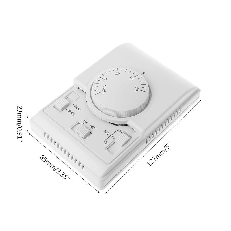 AC 220V Room Mechanical Thermostat Control Switch Air Conditioner Fan Coil Temperature Controller 875F
