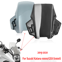 Double Windshield Windscreen Wind Deflector & Mounting Bracket For Suzuki Katana 1000 GSX S1000S GSXS 1000 S GSX S1000S Katana