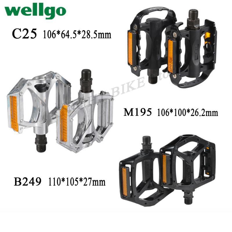 WELLGO C25 MTB BMX Aluminum Cost-effective Pedals Black  Bicycle Bike Cycling