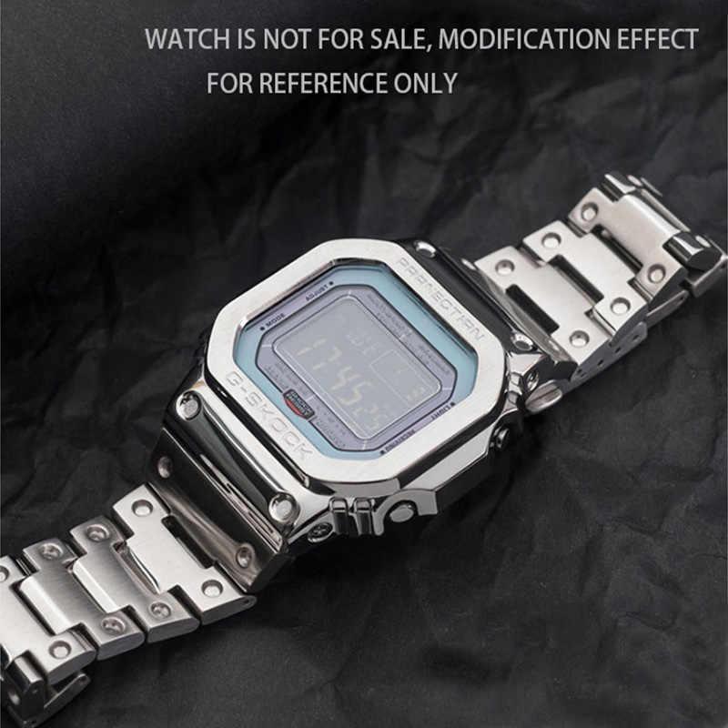 מתכת להקת שעון bezelStrap DW5600 GWM5610GW5000 נירוסטה רצועת השעון מקרה מסגרת gshock צמיד אבזר עם תיקון כלי