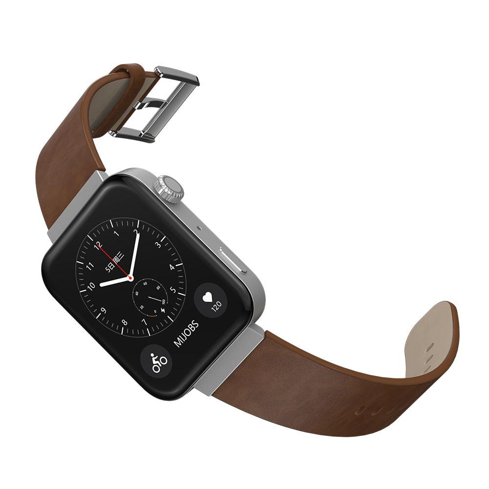 Mi Watch Band Genuine Leather For Xiaomi Watch Band Strap Wristbands Bracelet New Style Strap Mijobs Design