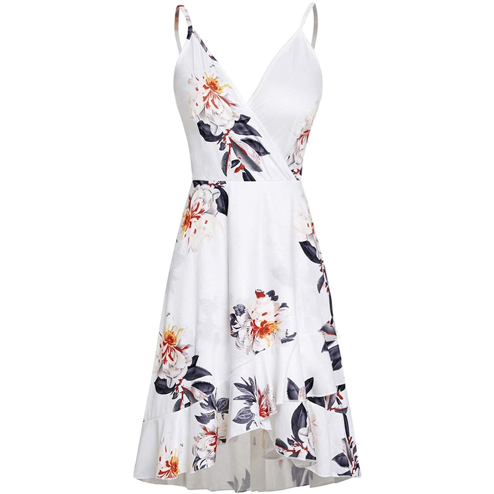 Eytino Women Sexy V Neck Long Sleeve Open Back Printed Mini Short Dresses 5