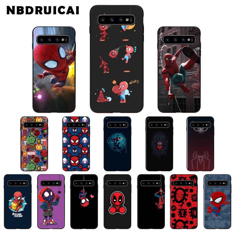 Nbdruicai legal marvel spiderman caixa do telefone de alta qualidade para samsung s9 plus s5 s6 borda mais s7 borda s8 mais s10 e s10 plus