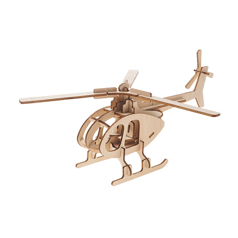 3D Wooden Three-dimensional Jigsaw Puzzle Children's Intelligence DIY Puzzle Board Toy Wooden Car Airplane Laser Cutting 3