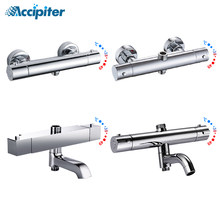 Mezclador de ducha de baño, grifo termostático de latón, accesorios para baño y ducha, mezclador de agua