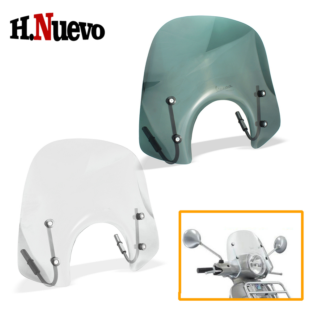 Motorcycle Modified Accessories For Vespa GTS300 Windscreen Motorbike Scooter For Vespa GTS 300 Windshield Wind Deflector Decals