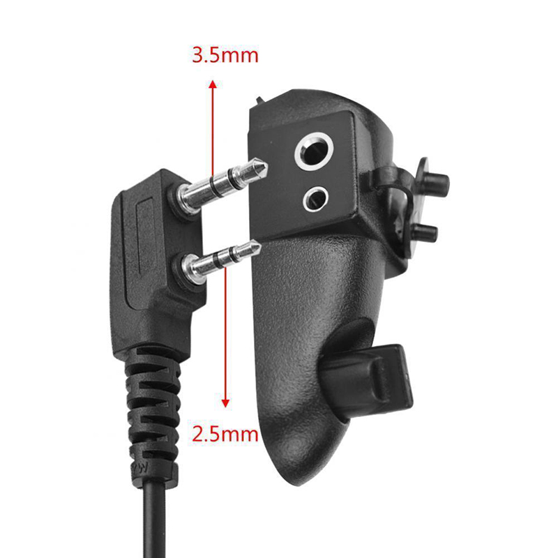 Walkie Talkie Adapter Suitable For Standard Molded Plugs 2 Pin For Baofeng 9700 A58 UV9R Motorola GP HT MTX Walkie Talkie Parts