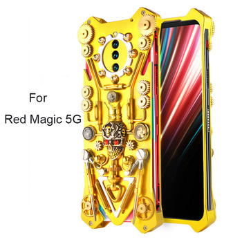 Metal Red Magic 5G Case For Nubia Red Magic 3 Case Retro Mechanical Gear Cover Coque For ZTE Nubia Red Magic 5G Funda 3 3S Case