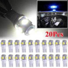 SUHU 20Pcs T10 LED License Plate Car Interior Lights Bulbs 12V 6000K White168 2825 194 W5W Reverse Bulbs Turn Signal Accessories