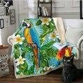 WOSTAR шерпа одеяло 3D печать синий попугай домашний удобный супер мягкий бархат плюшевое взрослое одеяло покрывала