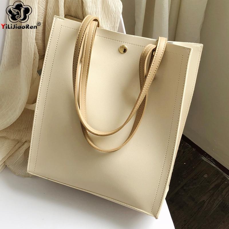 Женские Сумки из искусственной кожи, вместительные сумки через плечо, летние сумки, 2019