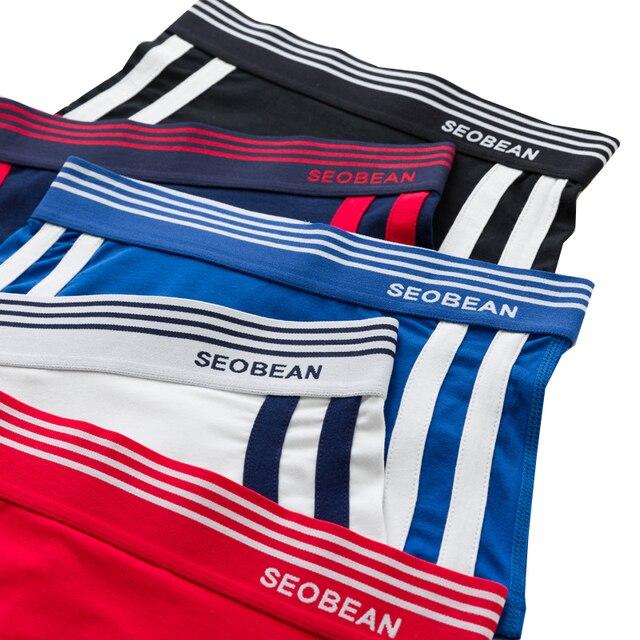 Women Stripe Knickers Unisex Sport Boxer Shorts Comfortable Underwear 6 Colors