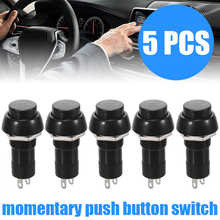 For Car Dashboard Boat 5pcs Black Auto Horn Switches SPST On-Off Momentary Push Button Switch 1A/250V 20A/12V Mayitr 5pcs x stainless momentary push button off on switch 16bn
