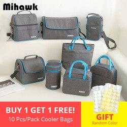 Теплоизоляционная сумка-холодильник для ланча, для пикника, Bento Box, для сохранения свежего льда, контейнер для еды, фруктов, для хранения, акс...