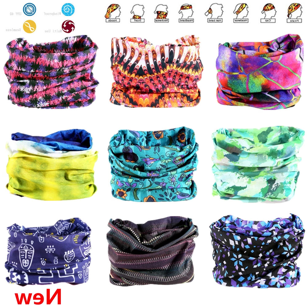 Novelty Multi color Seamless Bandanas Headwear Scarf Magic Headband Hijab Face Mask Wrap Bicycle Headscarf Frauen Schal Cloak|Women's Hair Accessories| - AliExpress