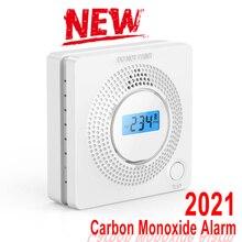 2021 Home Security LCD Carbon Monoxide Poisoning Warning Alarm Detector Independent CO Gas Sensor 85dB Warning-up Alarm Detector