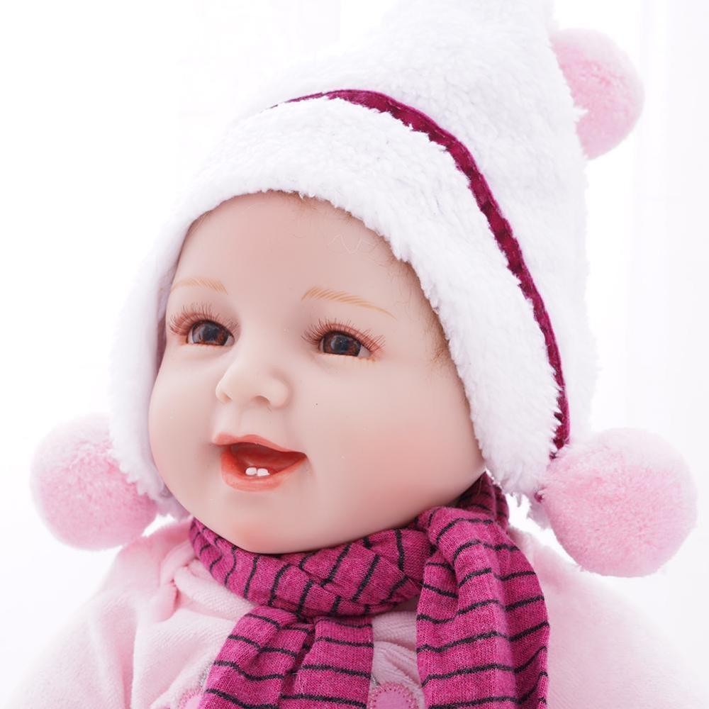 55CM réaliste Bebe poupée Reborn bébé poupée jouet à la main cheveux doux lesté corps nouveau-né bébé Simulation poupée cadeau d'anniversaire
