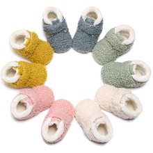 Toddler Boots Teddy Warm-Shoes Girls Winter And Soft New Ankle Hard-Sole Fleece
