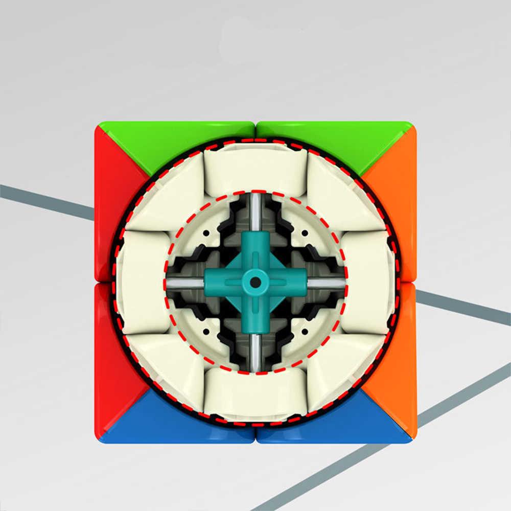 Профессиональный Магнитный куб YJ MGC2 YuPo M 2x2x2 50 мм YongJun 2x2 MGC обучающая наклейка s Наклейка волшебный куб детские игрушки