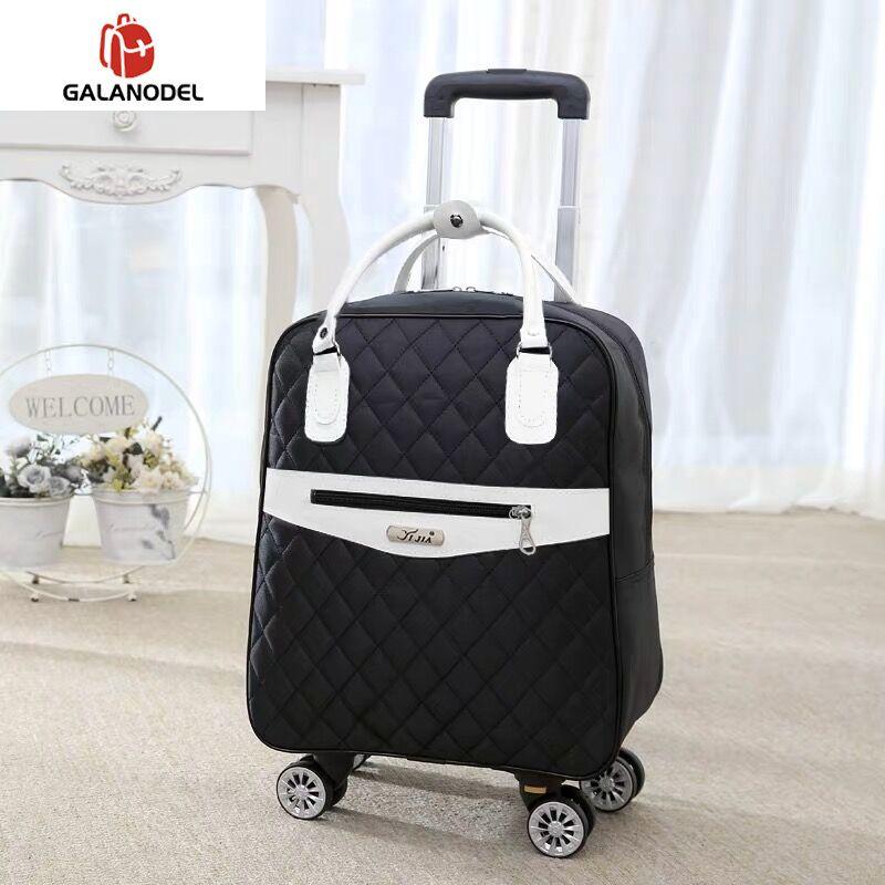 New Women Travel Luggage Suitcase Handbag,girls Cabin Waterproof Oxford Rolling Trolley Suitcase,Lady Carry-Ons Wheels Drag Bag
