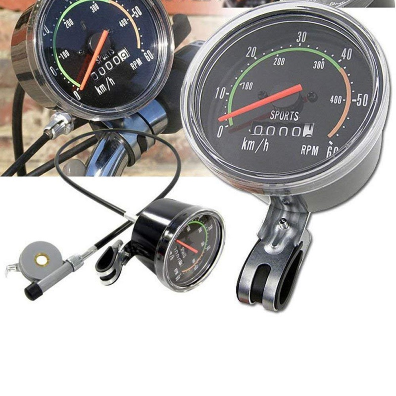Bicycle Speedometer Classical Mechanical Road Mountain Bike Cycling Odometer Stopwatch Waterproof Speedometer Yq|Electric Bicycle Accessories| |  - title=