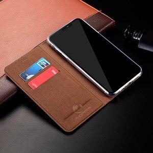 Image 3 - מגנט טבעי אמיתי עור עור Flip ארנק ספר טלפון מקרה כיסוי על לxiaomi Redmi הערה 4 4X X Note4 note4X פרו 32/64 GB