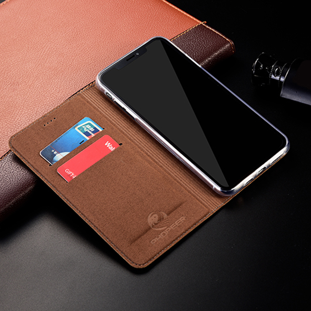Image 3 - Magnet Natural Genuine Leather Skin Flip Wallet Book Phone Case Cover On For Xiaomi Redmi Note 4 4X X Note4 Note4X Pro 32/64 GBFlip Cases   -