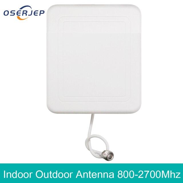 4g חיצוני פנימי אנטנת 2g 3G 4G LTE פנל מקורה אנטנה 800 2700 עם N נשי טלפון סלולרי בוסטרים משחזר אנטנה