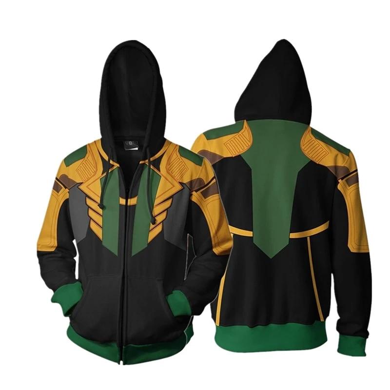Marvel/'s THE AVENGERS loki hoodie Uniform tops Cosplay Costume#j/'j