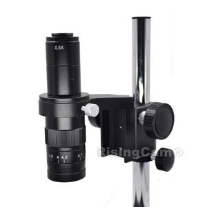 Image 5 - Zoom 0.7x 4.5x monoculaire Zoom microscope stéréo 0.5X C monture lentille industrielle pour la réparation de téléphone PCB