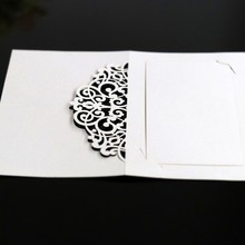 Hotel conference lace card Laser cut wedding invitations hollow check-in table festival celebration name seat 50pcs