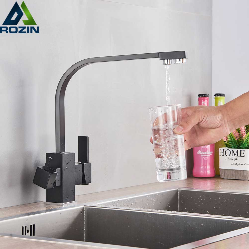 White Kitchen Faucet Purity Kitchen Sink Mixer Tap Beige with Dot Purification Kitchen Water Faucets Drinking Water Tap