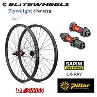 29er xc am wheelset hign-end dt swiss 240 hub carbono mtb roda 27 28 30 33 35 36 40 50 52mm 350g super leve aro de carbono