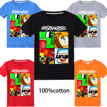 Hot 2020 Children Summer T Shirt 100% Cotton UNSPEAKABLE YOUTUBER alan walker Boys Girls Anime Pattern Kids Short Sleeve T-shirt(China)