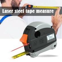 2 в 1 40 м лазерный дальномер ЖК-цифровая Лента измеритель расстояния Измеритель дальномер инфракрасный строительный измерительный инструмент