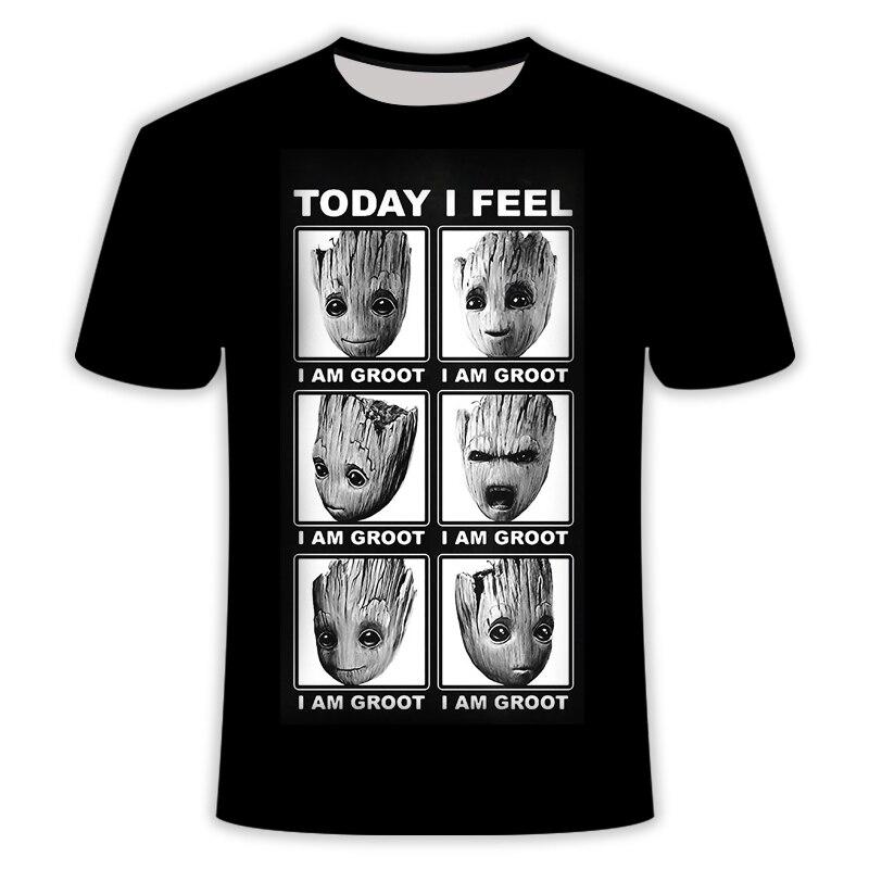 2019 Men/Women New treeman T-shirt groot/raccoon / 3D t shirt print harajuku Hiphop comics collar T-shirt  Asian size s-6xl