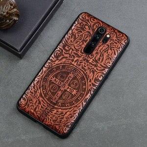 Image 3 - Phone Case For Xiaomi redmi note 8 pro Real Wood TPU Case For Xiaomi Redmi Note 7 Redmi Note 8 Pro Phone Accessories