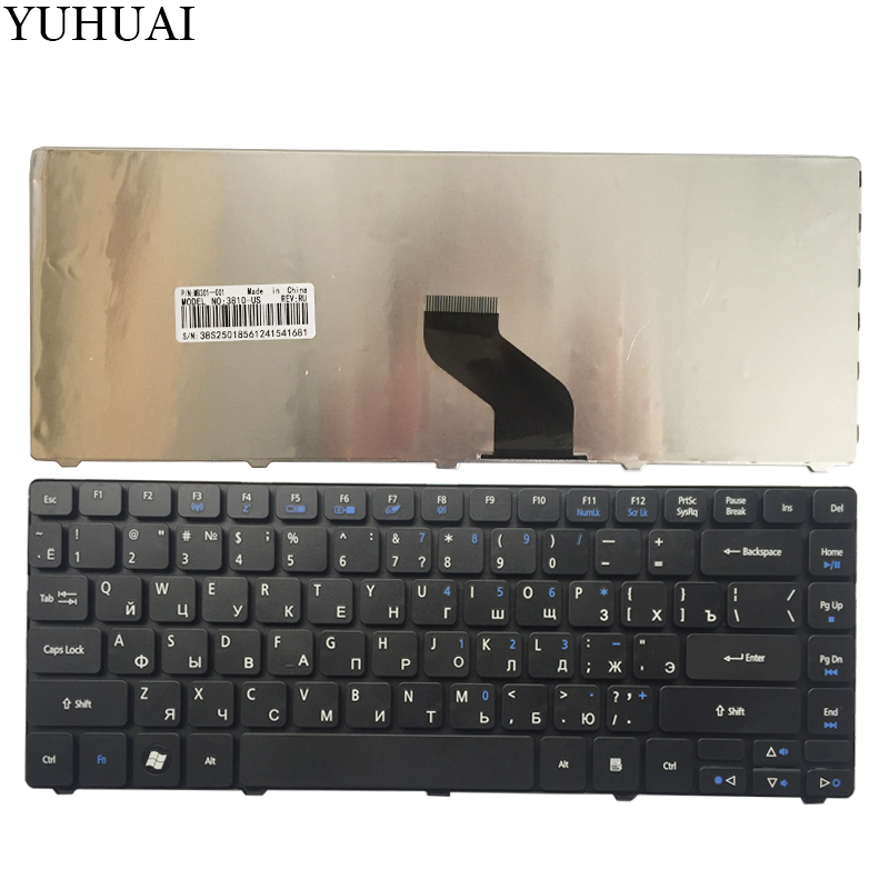 Russian Keyboard for <font><b>Acer</b></font> Aspire 3810 3810TG 3810T 4750G 3815 3820 3820G 3820T 4820 4820G <font><b>4736</b></font> 4820 4741 4752Z RU Black Laptop image