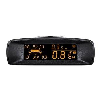 Car LCD Parking Sensor Kit, Visible Full Digital Distance Display Reversing R-Adar with 8 Sensors Fit All Cars