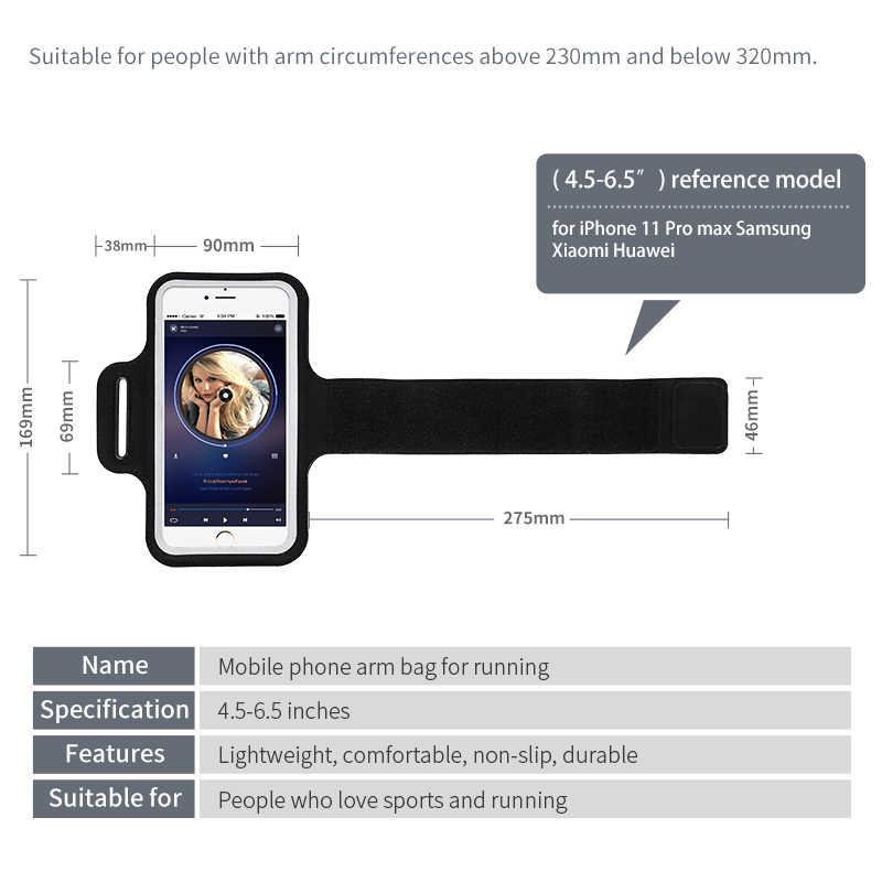 รองเท้าวิ่งกีฬาผู้ถือโทรศัพท์มือถือArmbandsสำหรับiPhone SE 2 11 Pro Max XS X 8 7 Plus Samsung xiaomi Redmiนาฬิกาข้อมือArm Band