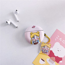 Cute Character Wireless Bluetooth Earphone Case for Huawei Freebuds 3 Smooth Shockproof Protective Charging Cover with Keychain