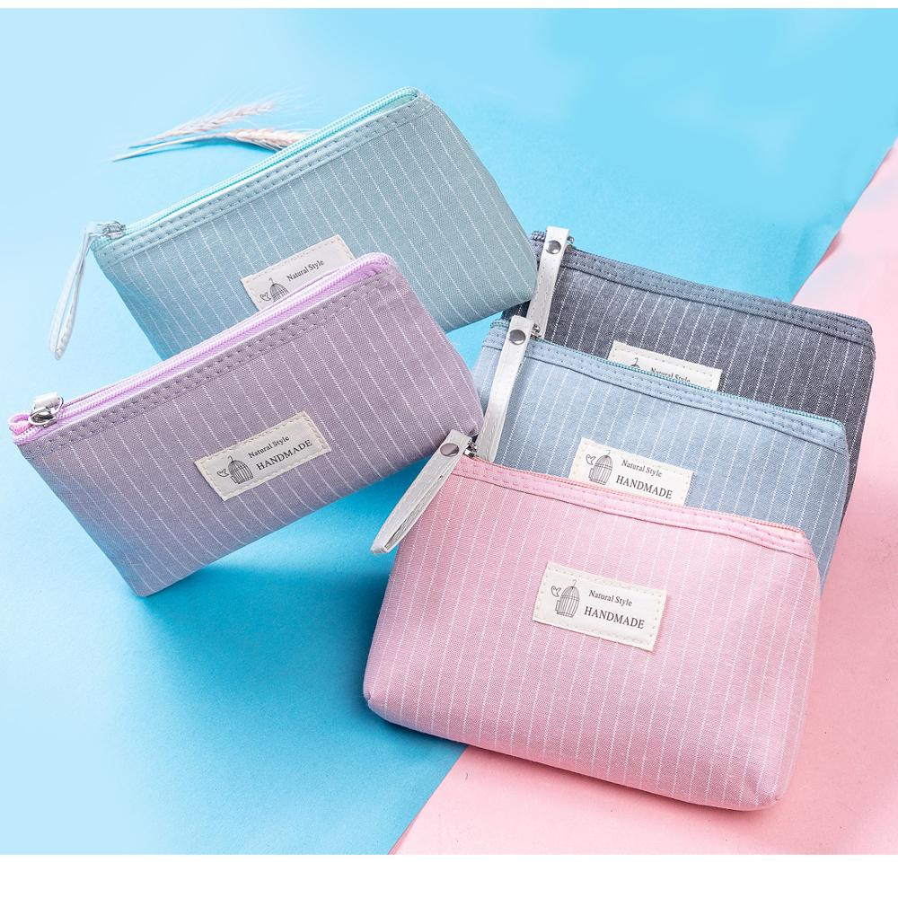 Wholesale Price Floral Women Portable Toiletry Bag Lady Zipper Design Mini Travel Cosmetic Bag Factory Wholesale Cosmetic Bags