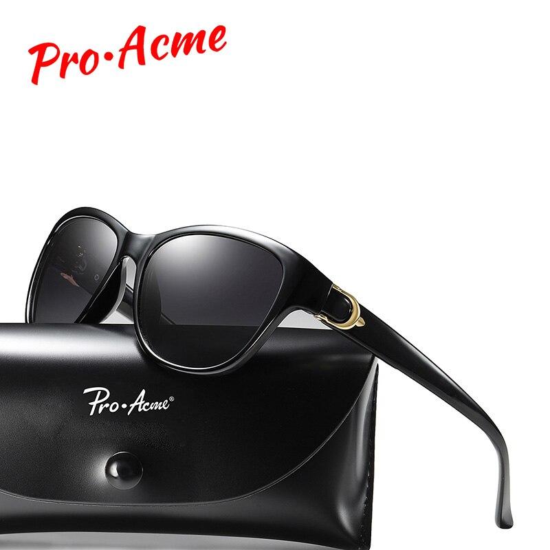 Pro acme 2019 cat eye óculos de sol feminino olho de gato polarizado óculos de sol senhora marca de luxo do vintage óculos de sol lentes de sol pa1212