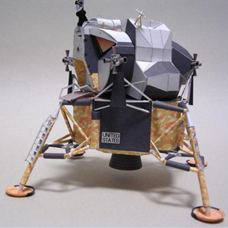 1:48 Apollo Plan 11 Lunar Module DIY 3D Paper Card Model Building Sets Construction Toys Educational Toys Military Model