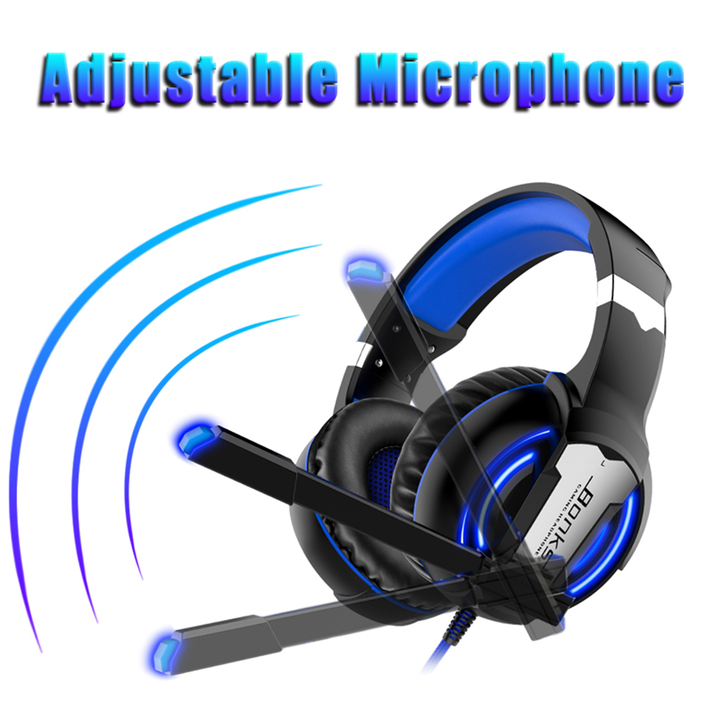 Gaming Headset Headphones with Microphone Light Surround Sound   Bass Earphones For PS4 Xbox One Professional Gamer PC Laptop 3