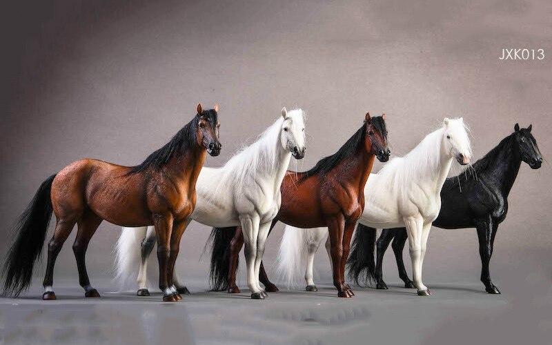 Около 21 см 1:12 моделирование ПВХ теплая кровяная лошадь крепления лошадь животное модель крепление детские игрушки украшение дома сбор пода... - 6