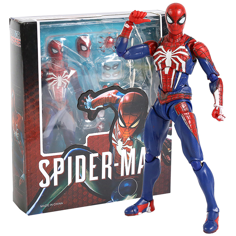 Vingadores shf homem aranha atualizar terno ps4 jogo edição spiderman pvc figura de ação collectable modelo brinquedo boneca presente