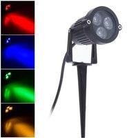 2X 3W Outdoor LED Rasen Lampe 220V für Garde Licht Blau Grün mit 6M Kabel Wasserdichte IP65 outdoor Pfad Spike Lichter-in LED-Gartenlampen aus Licht & Beleuchtung bei